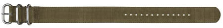 22mm Textile Strap - Olive Green